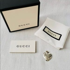 NEW Gucci Blind For Love Pendant SV925 Sterling